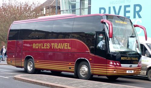 A5 PMX 'Royle's Travel', Sheffield. MAN 14-280 / Beulas Cygnus on 'Dennis Basford's railsroadsrunways.blogspot.co.uk'