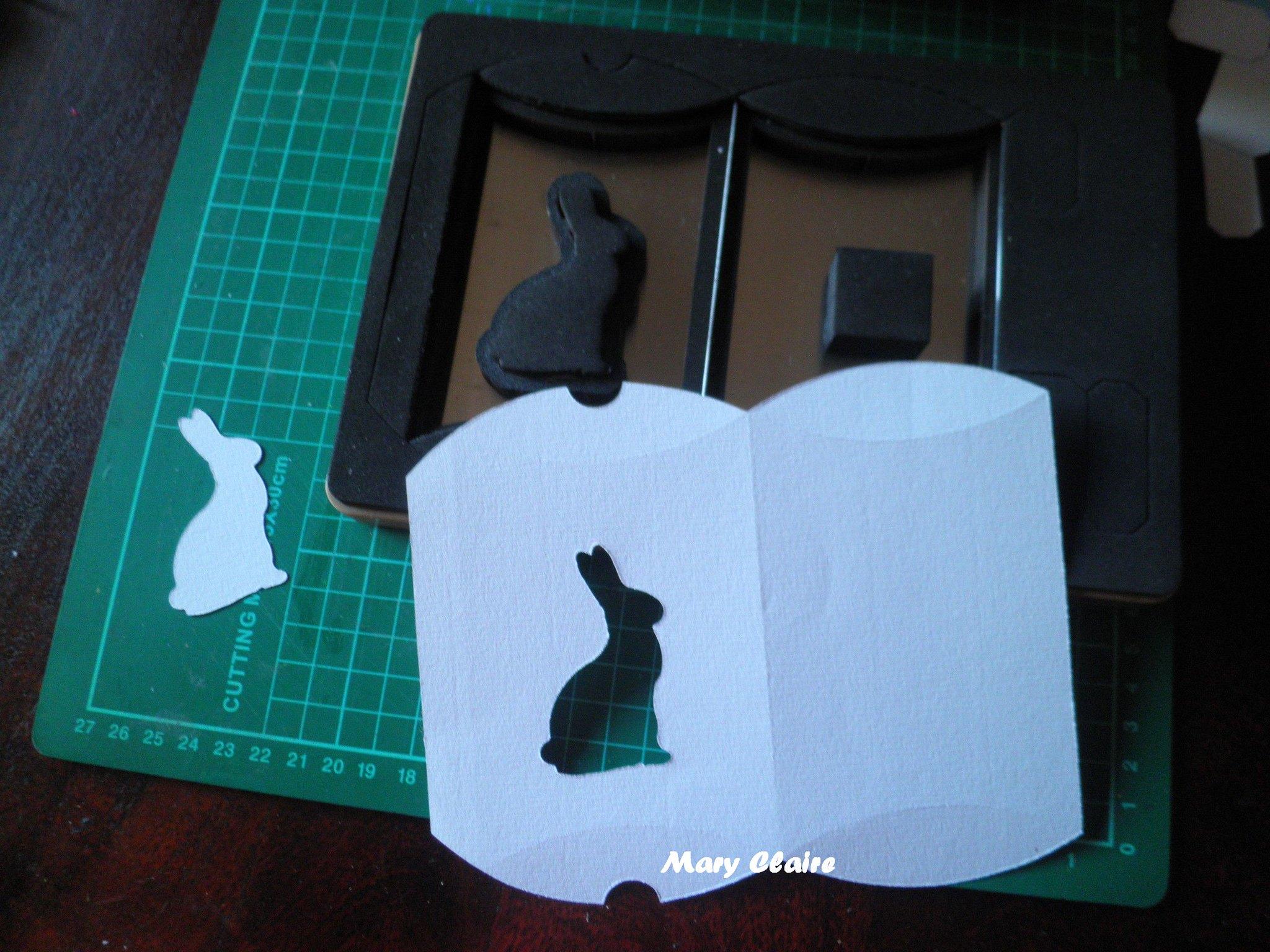 fustella scatolina + coniglietto