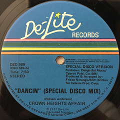 CROWN HEIGHTS AFFAIR:DANCIN'(SPECIAL DISCO MIX)(LABEL SIDE-A)