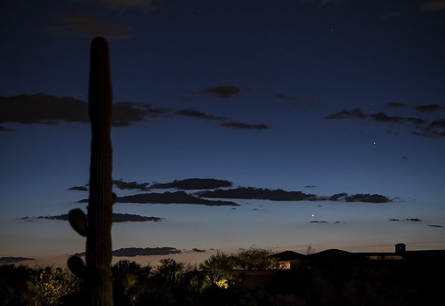 Venus and Mercury in the Tucson AZ twilight HDR