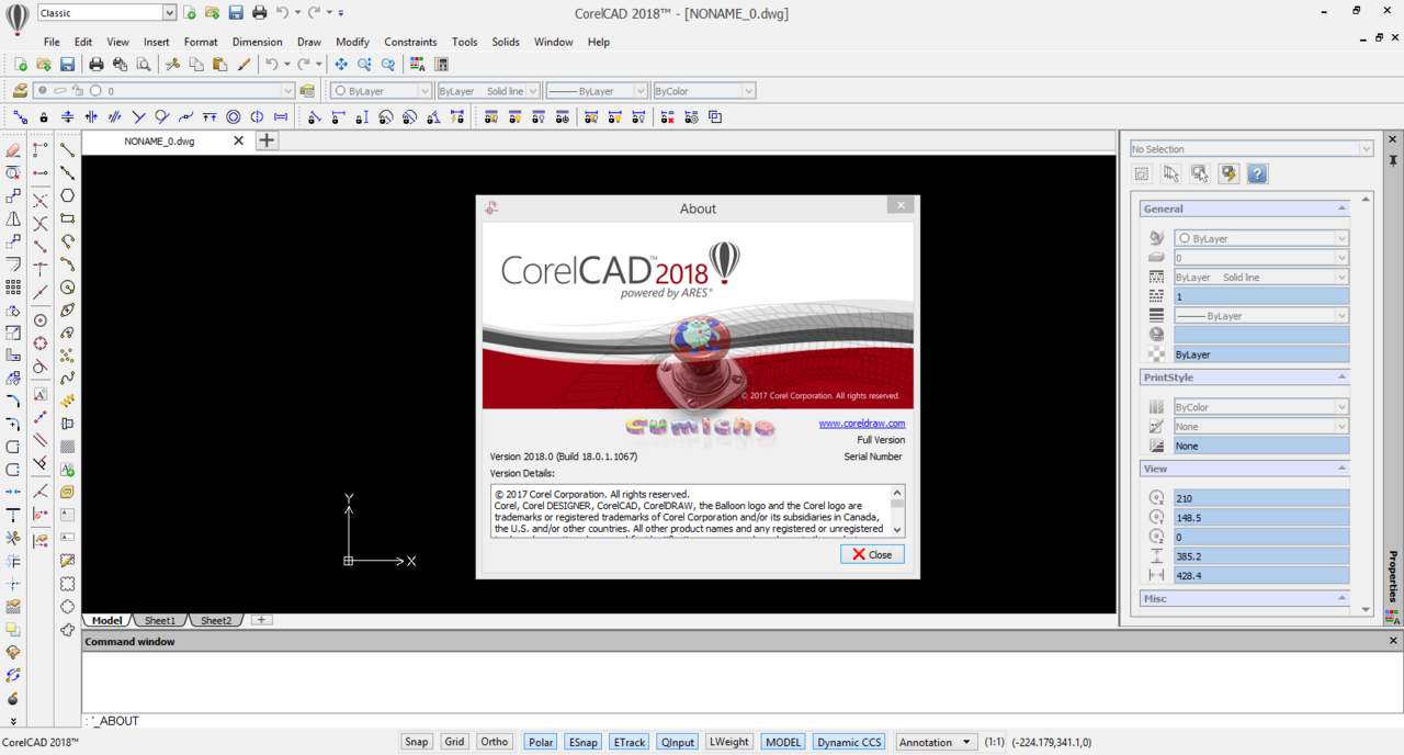 Working with CorelCAD 2018.0 v18.0.1.1067 full license
