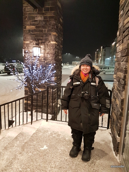 Bundled up in Yellowknife