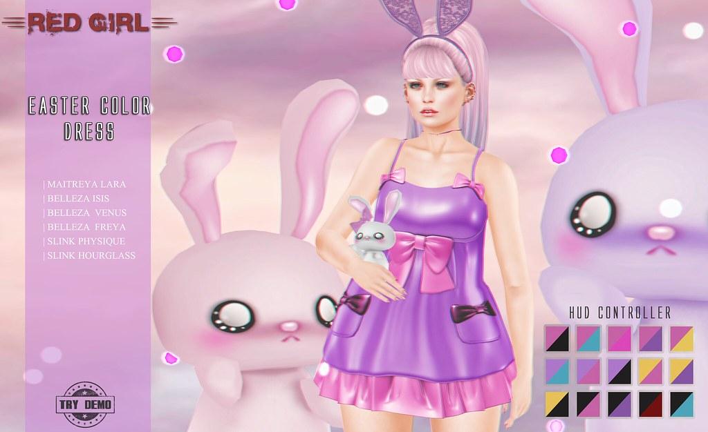 [RED GIRL] Easter Color Dress - TeleportHub.com Live!
