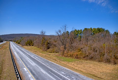 The Long and Winding Road -- I-66 West at Thoroughfare Gap Broad Run (VA) March 2018