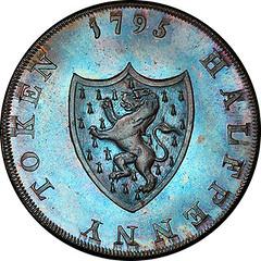 1795 Middlesex Halfpenny Token reverse