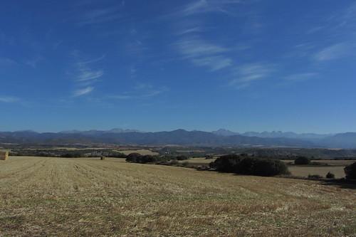 20121001 33 250 Jakobus Pyrenäen Berge Bäume Felder