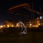 Lights at Preston Docks