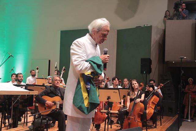 Na noite desta quinta-feira (22), Geraldo Vandré voltou aos palcos em apresentação em João Pessoa - Créditos: Secretaria de Cultura/Governo da Paraíba