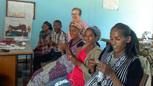 Bernie Sheridan SSL visited Ethiopia and helped upskill some of the women involved in the Women's Empowerment Project