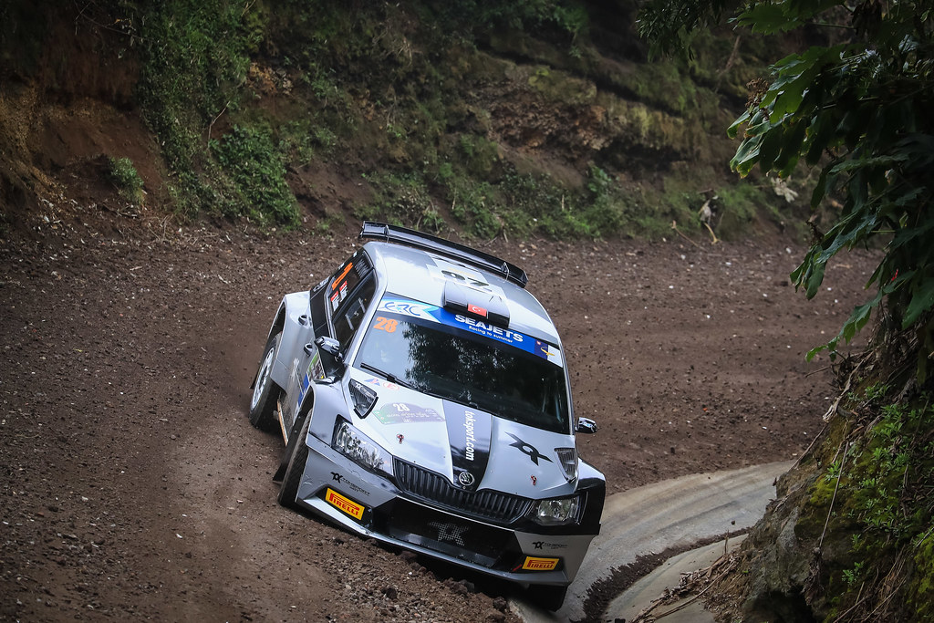 28 AVCIOGLU Orhan (tur), KORKMAZ Burcin (tur), SKODA FABIA R5, action during the 2018 European Rally Championship ERC Azores rally,  from March 22 to 24, at Ponta Delgada Portugal - Photo Jorge Cunha / DPPI