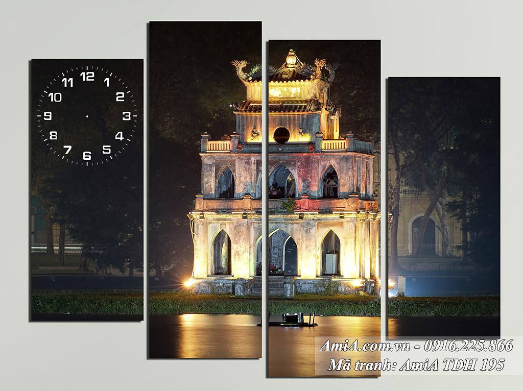 AmiA 195 - Tranh hồ Gươm tháp Rùa cảnh đẹp quê hương