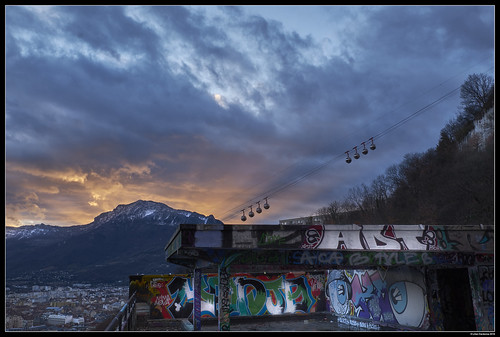 Urban/Mountain Mixed Sunset #1
