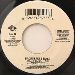 BACKSTREET BOYS:I WANT IT THAT WAY(LABEL SIDE-B)