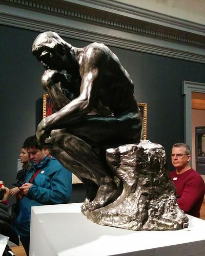 The Thinker #newyorkcity #newyork #manhattan #metmuseum #sculoture #rodin #thethinker #latergram