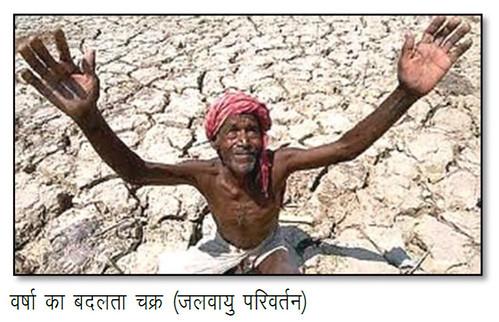 वर्षा का बदलता चक्र (जलवायु परिवर्तन)