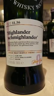 SMWS 11.36 - 'Highlander schmighlander'
