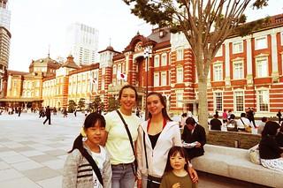 Garcia girls in Tokyo, at Tokyo Station.