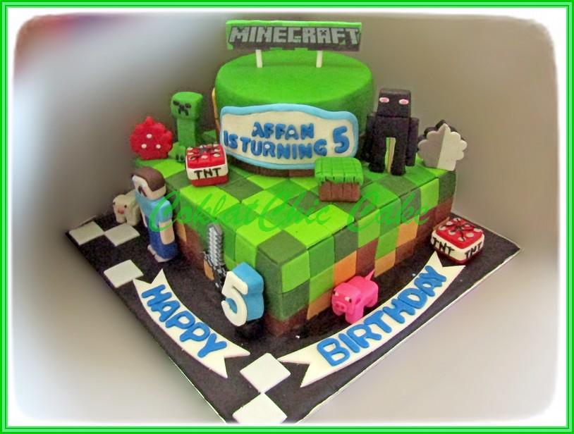 Cake MineCraft AFFAN - 15 cm