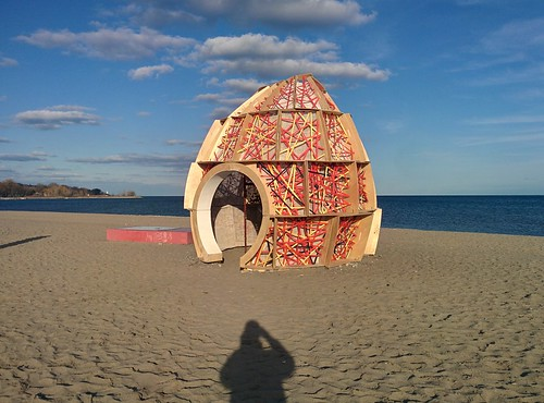 Nest (1) #toronto #winterstations #beaches #woodbinebeach #nest #publicart #latergram