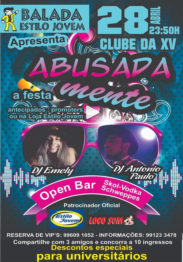 Vem aí, Abusadamente - A festa, em 28 de abril no Clube da XV