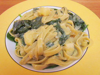 Baked Fettuccine with Silverbeet and Sage