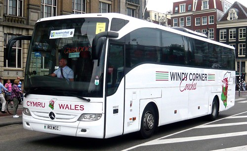 R13 WCC 'Windy Corner Coaches' of Pencader, South Wales. Mercedes-Benz Tourismo on 'Dennis Basford's railsroadsrunways.blogspot.co.uk'