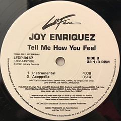 JOY ENRIQUEZ:TELL ME HOW YOU FEEL(LABEL SIDE-B)