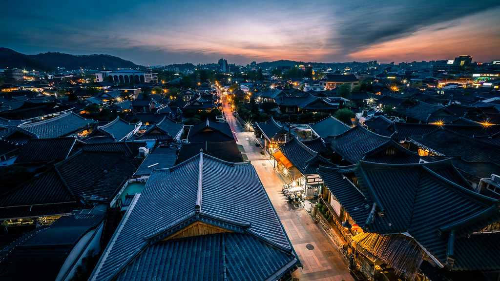 Sunset in Jeonju, South Korea picture