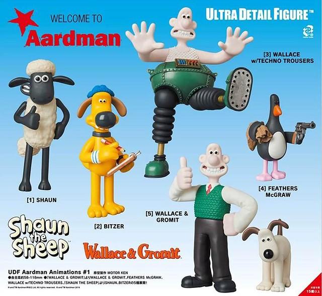 UDF系列「阿德曼動畫工作室」第一彈 搞笑又逗趣登場!ウルトラディテールフィギュア Aardman Animations #1