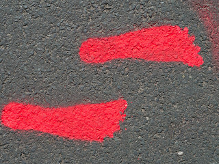 Symbol auf der Laufstrecke
