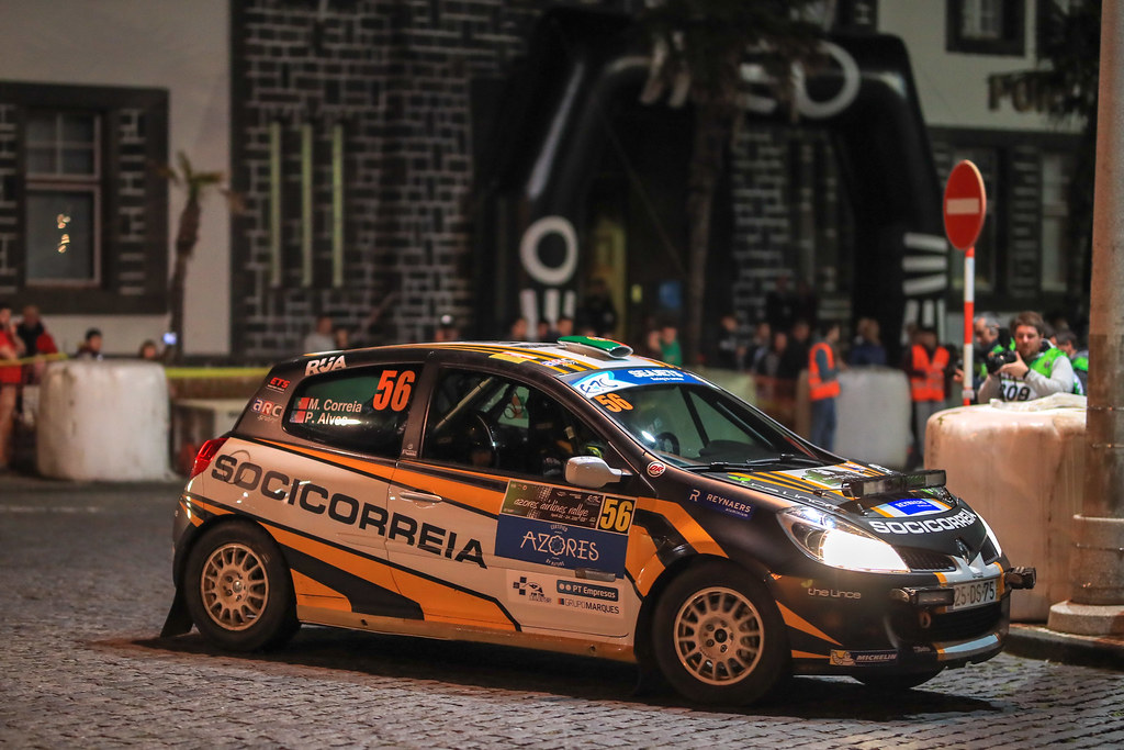 56 CORREIA MIGUEL (prt), ALVES Pedro (prt), Renault Clio R3 , actionR during the 2018 European Rally Championship ERC Azores rally,  from March 22 to 24, at Ponta Delgada Portugal - Photo Jorge Cunha / DPPI