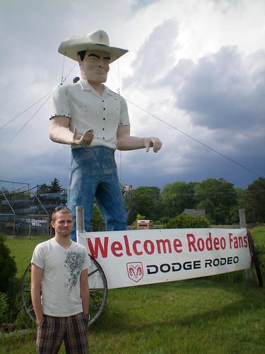 Cowboy muffler man (Spooner, WI)