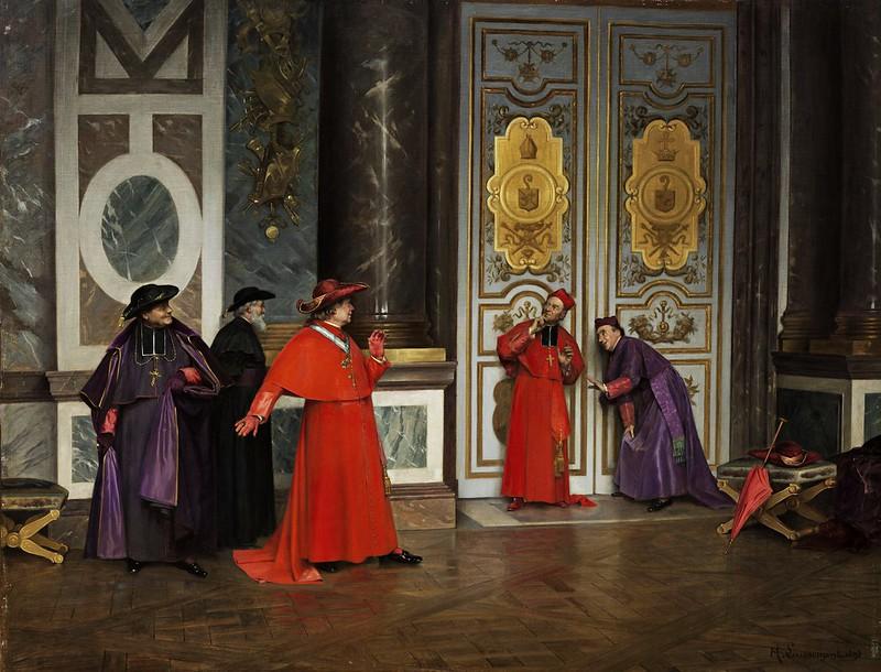Henri Adolphe Laissement - Kardinäle im Vorzimmer (1895)