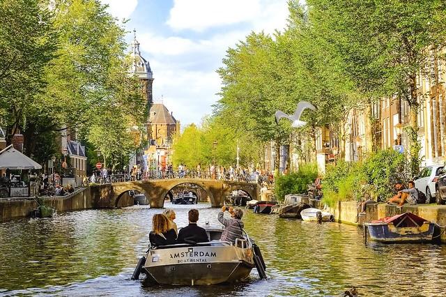 visiting Amsterdam canal