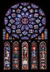 North transept rose of Chartres Cathedral