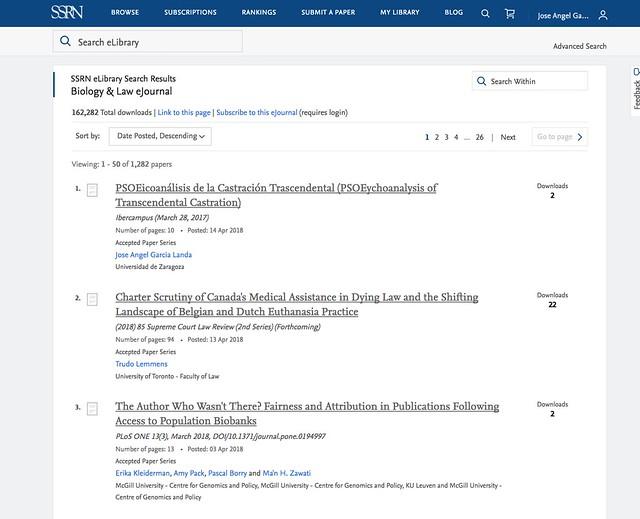 En el Biology & Law eJournal