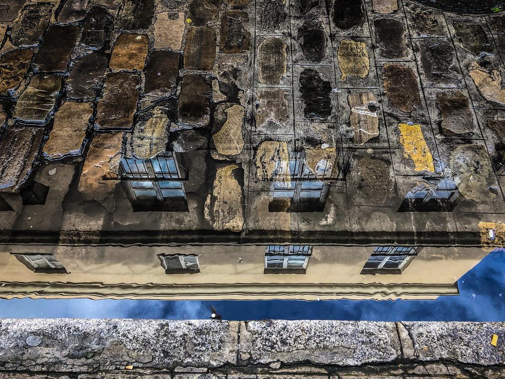 Cobblestone reflections