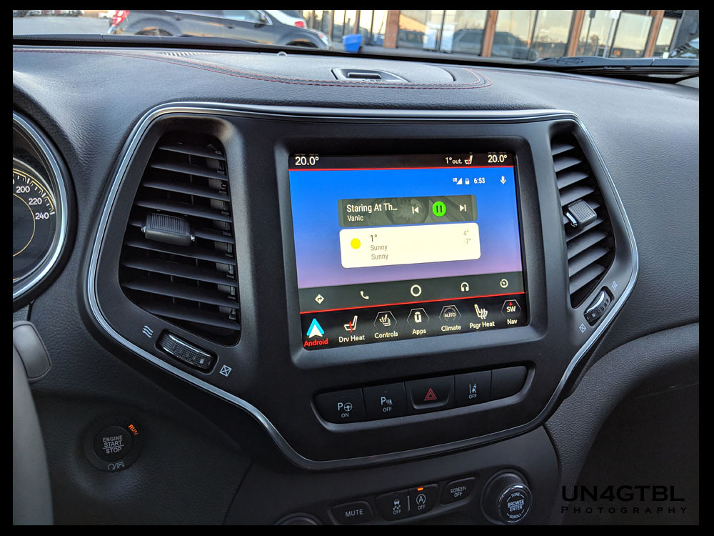 Comparison Of Built In Nav Vs Android Auto 2014 Jeep