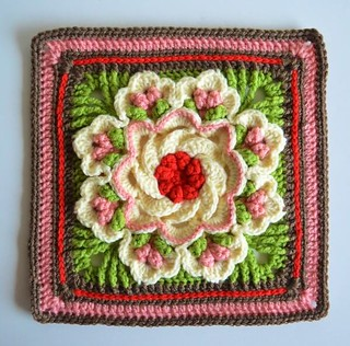 🎉 👏 😍 how delicate is that crochet square, that most delicate and elegant model I loved this very lovely pattern