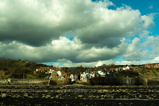 20170331-37_Robin Hoods Bay Village - Big Stormy Sky