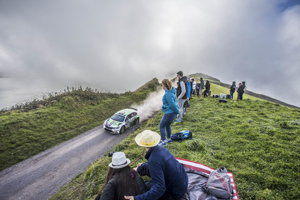 12 KOCI Martin (svk), SCHOVANEK Filip (cze), SKODA SLOVAKIA MOTORSPORT, SKODA FABIA R5, action during the 2018 European Rally Championship ERC Azores rally,  from March 22 to 24, at Ponta Delgada Portugal - Photo Gregory Lenormand / DPPI