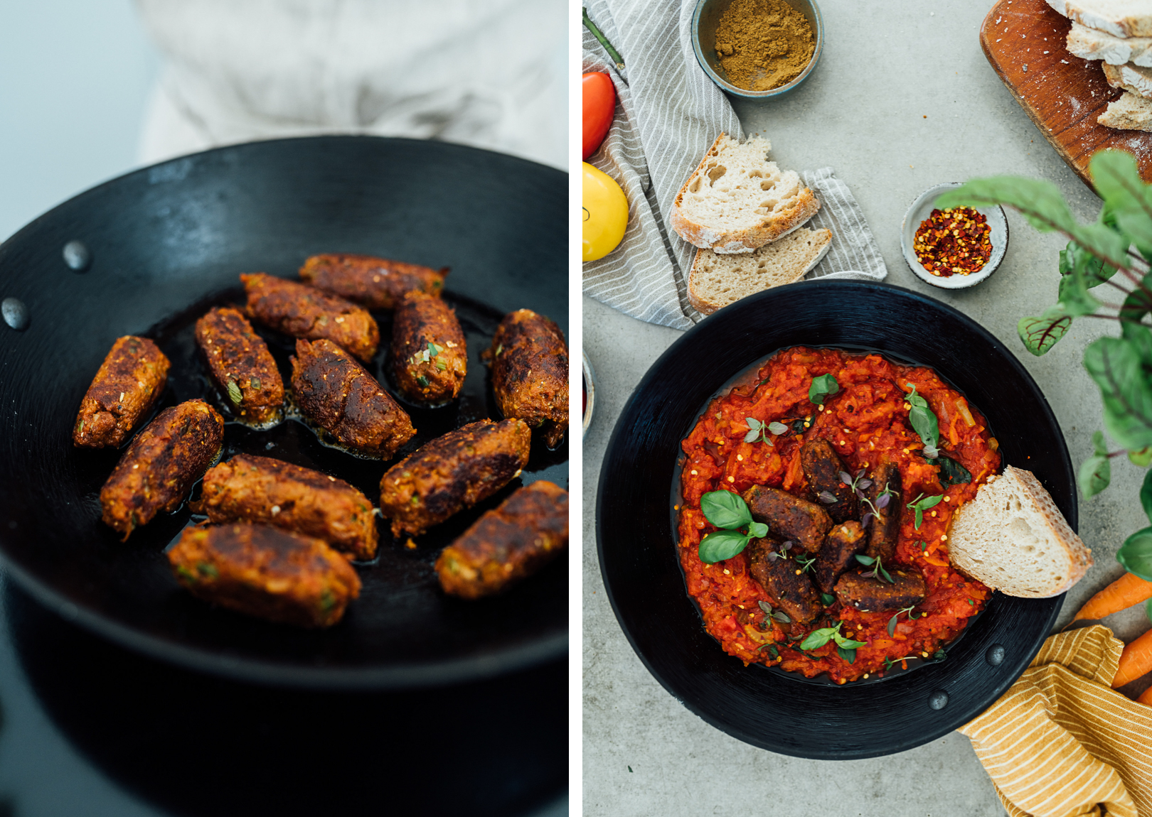 Pulled Oats Cevapcici | Cashew Kitchen, photo by Poppy Photography