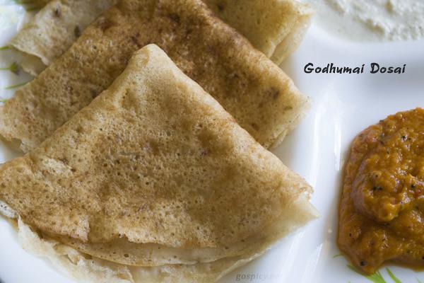 Wheat/Godhumai Dosai Recipe by GoSpicy.net