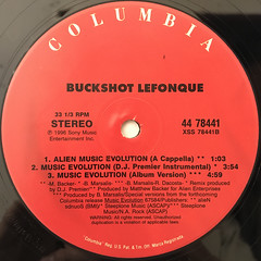 BUCKSHOT LEFONQUE:MUSIC EVOLUTION(LABEL SIDE-B)
