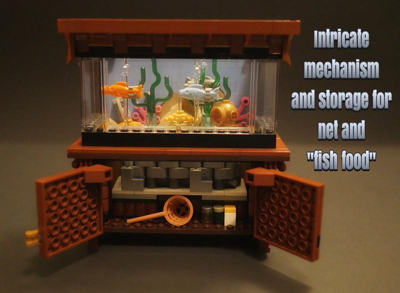 Lego Clockwork Aquarium - Doors open