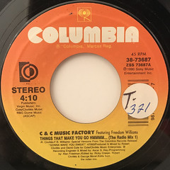 C & C MUSIC FACTORY:THINGS THAT MAKE YOU GO HMMMM...(LABEL SIDE-A)