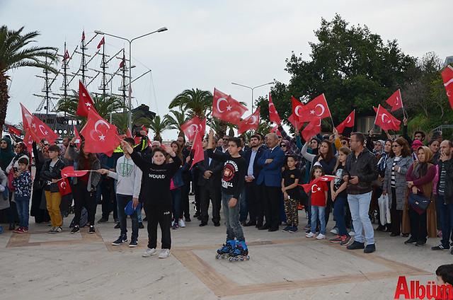 Türk Eğitim Sen Alanya Temsilciliği 18 Mart Çanakkale Zaferi Anısına Şehitlere Saygı Yürüyüşü -5