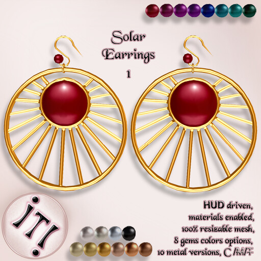 !IT! - Solar Earrings 1 Image - TeleportHub.com Live!