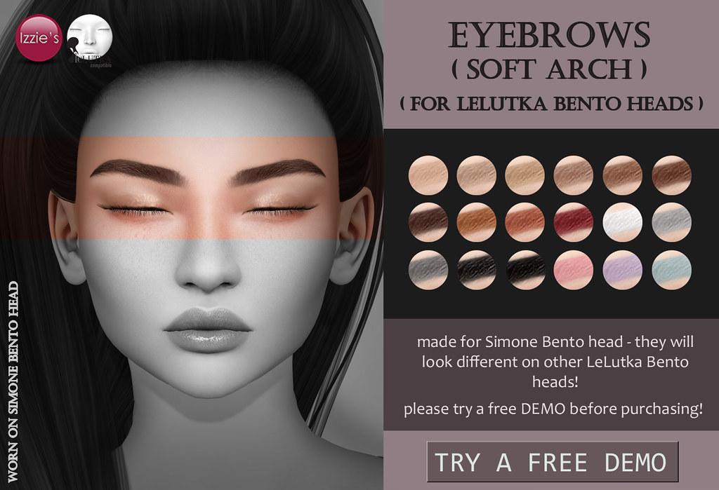 Lelutka Eyebrows soft arch - TeleportHub.com Live!