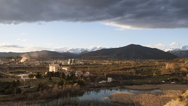 Atardecer en Sabiñánigo